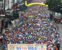 10km Tri FM - Unilus - Largada da prova em Santos.